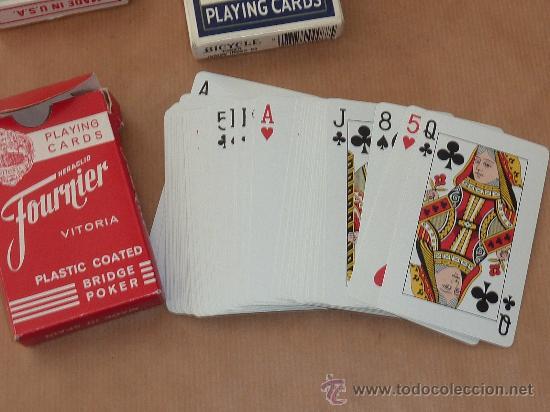 Barajas de cartas: Lote de 3 barajas de cartas de poquer en fundas. - Foto 2 - 28947877