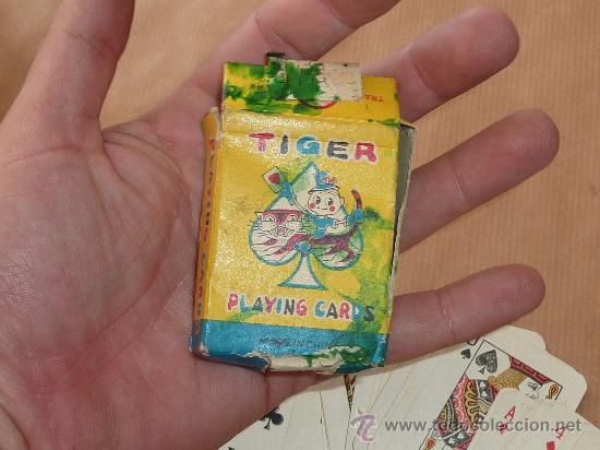 Barajas de cartas: Antigua baraja de cartas de tamaño pequeño. marca Tiger. - Foto 2 - 28947975