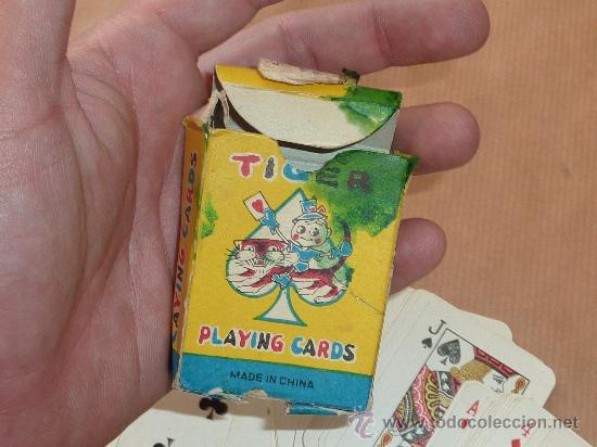 Barajas de cartas: Antigua baraja de cartas de tamaño pequeño. marca Tiger. - Foto 3 - 28947975