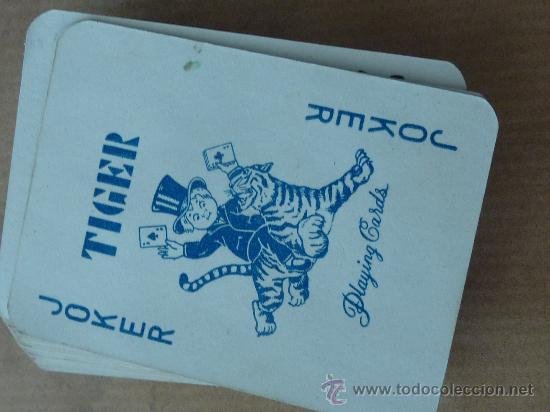 Barajas de cartas: Antigua baraja de cartas de tamaño pequeño. marca Tiger. - Foto 6 - 28947975