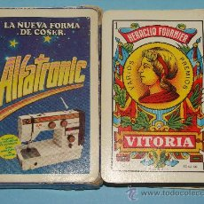 Mazzi di carte: BARAJA DE CARTAS ESPAÑOLA. FOURNIER. ALFATRONIC. ANTIGUA MÁQUINA DE COSER ALFA. . Lote 29033931