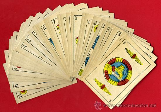 BARAJA NAIPES, ESPAÑOLA , CLASICA SIGLO XIX ,48 CARTAS, RARA ,ORIGINAL ,VER FOTOS , F (Juguetes y Juegos - Cartas y Naipes - Baraja Española)