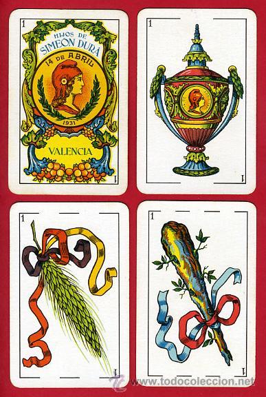 Barajas de cartas: BARAJA NAIPES, HIJOS SIMEON DURA REPUBLICA ESPAÑOLA 1931, 48 CARTAS, REPUBLICANA,ORIGINAL ,VER FOTOS - Foto 3 - 29150700