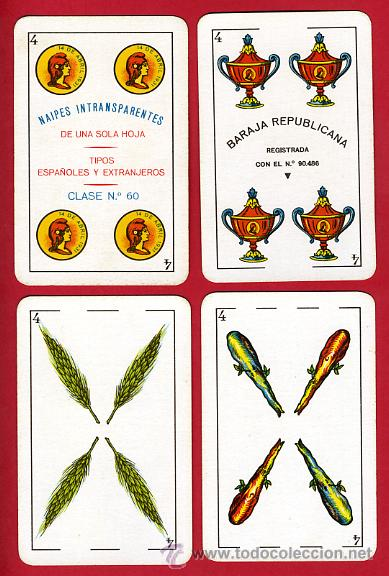 Barajas de cartas: BARAJA NAIPES, HIJOS SIMEON DURA REPUBLICA ESPAÑOLA 1931, 48 CARTAS, REPUBLICANA,ORIGINAL ,VER FOTOS - Foto 6 - 29150700