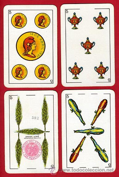 Barajas de cartas: BARAJA NAIPES, HIJOS SIMEON DURA REPUBLICA ESPAÑOLA 1931, 48 CARTAS, REPUBLICANA,ORIGINAL ,VER FOTOS - Foto 7 - 29150700