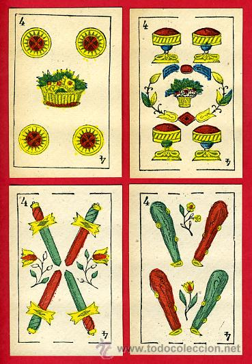 Barajas de cartas: BARAJA NAIPES, ESPAÑOLA , CLASICA SIGLO XIX ,48 CARTAS, RARA ,ORIGINAL ,VER FOTOS , F - Foto 6 - 29151347