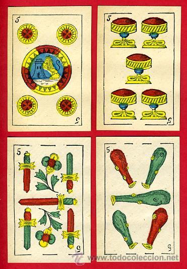 Barajas de cartas: BARAJA NAIPES, ESPAÑOLA , CLASICA SIGLO XIX ,48 CARTAS, RARA ,ORIGINAL ,VER FOTOS , F - Foto 7 - 29151347