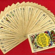 Barajas de cartas: BARAJA NAIPES EL HERALDO, DE SEGUNDO OLEA , CADIZ PARA EXPORTACION , COMPLETA , 40 CARTAS, ORIGINAL,. Lote 29291594