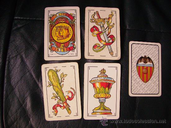 INTERESANTE BARAJA,NAIPES IBERIA.VALENCIA C.F.COMPLETA 50 CARTAS.FUTBOL.BIEN CONSERVADA. (Juguetes y Juegos - Cartas y Naipes - Baraja Española)