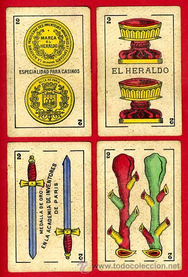 Barajas de cartas: BARAJA NAIPES EL HERALDO, DE SEGUNDO OLEA , CADIZ PARA EXPORTACION , COMPLETA , 40 CARTAS, ORIGINAL, - Foto 4 - 29291594