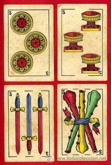Barajas de cartas: BARAJA NAIPES EL HERALDO, DE SEGUNDO OLEA , CADIZ PARA EXPORTACION , COMPLETA , 40 CARTAS, ORIGINAL, - Foto 5 - 29291594