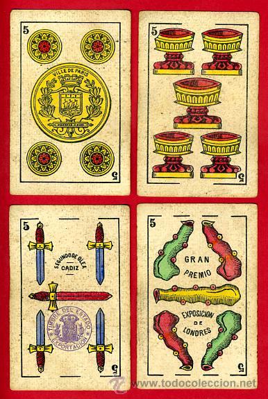 Barajas de cartas: BARAJA NAIPES EL HERALDO, DE SEGUNDO OLEA , CADIZ PARA EXPORTACION , COMPLETA , 40 CARTAS, ORIGINAL, - Foto 7 - 29291594
