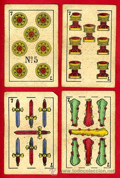Barajas de cartas: BARAJA NAIPES EL HERALDO, DE SEGUNDO OLEA , CADIZ PARA EXPORTACION , COMPLETA , 40 CARTAS, ORIGINAL, - Foto 9 - 29291594