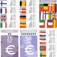Barajas de cartas: DOBLE BARAJA EUROPOKER-NAIPES FOURNIER-AÑO 2001.-. Lote 29392178
