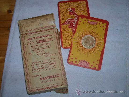 BARAJA ADIVINACION VENECIANA ANTIGUA VER FOTOS (Juguetes y Juegos - Cartas y Naipes - Barajas Tarot)