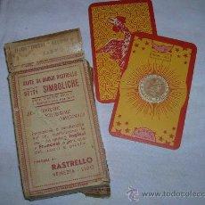 Barajas de cartas: BARAJA ADIVINACION VENECIANA ANTIGUA VER FOTOS. Lote 29409741