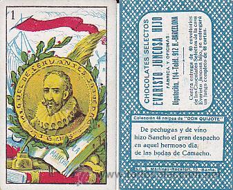 BARAJA DE CARTAS DON QUIJOTE CHOCOLATES EVARISTO JUNCOSA (Juguetes y Juegos - Cartas y Naipes - Baraja Española)