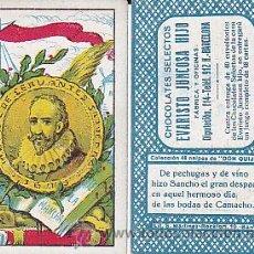 Barajas de cartas: BARAJA DE CARTAS DON QUIJOTE CHOCOLATES EVARISTO JUNCOSA . Lote 29502489