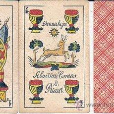Barajas de cartas: BARAJA CARTAS COMPLETA DE SEBASTIAN COMAS Y RICART . Lote 29502583