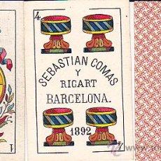 Barajas de cartas: BARAJA DE CARTAS COMPLETO SEBASTIAN COMAS Y RICART. Lote 29502766