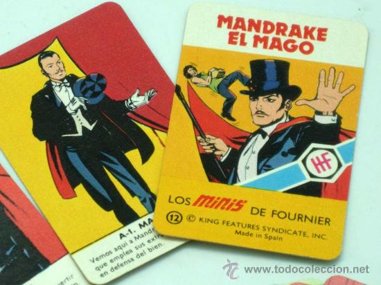Barajas de cartas: Mini Baraja Minis de Fournier Mandrake el mago nº 12 Heraclio Fournier 1978 - Foto 2 - 29540819