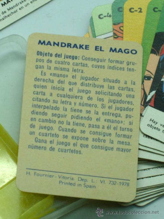 Barajas de cartas: Mini Baraja Minis de Fournier Mandrake el mago nº 12 Heraclio Fournier 1978 - Foto 3 - 29540819