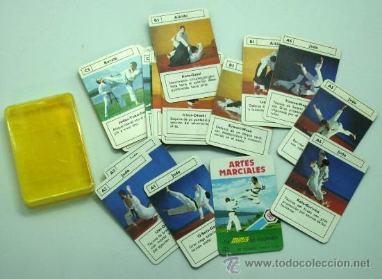 MINI BARAJA MINIS DE FOURNIER ARTES MARCIALES Nº 8 HERACLIO FOURNIER 1978 (Juguetes y Juegos - Cartas y Naipes - Barajas Infantiles)
