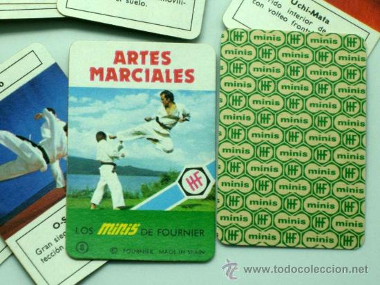 Barajas de cartas: Mini Baraja Minis de Fournier Artes Marciales nº 8 Heraclio Fournier 1978 - Foto 2 - 29540999