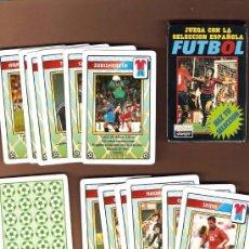 Barajas de cartas: FUTBOL BARAJA NAIPES FOURNIER JUEGA CON LA SELECCIÓN ESPAÑOLA 1996 NUEVO. Lote 42683520