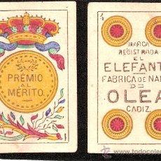Barajas de cartas: BARAJA DE CARTAS - NAIPES OLEA -CADIZ- COMPLETA 40 CARTAS - 1891 -VER FOTOS ADICIONALES - (CR-73). Lote 29621907