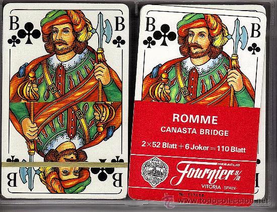 ESTUCHE 2 BARAJAS FOURNIER, POKER ROMME (Juguetes y Juegos - Cartas y Naipes - Barajas de Póker)
