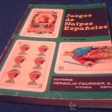 Barajas de cartas: JUEGOS DE NAIPES ESPAÑOLES. HERACLIO FOURNIER, EDITORES. 1984. RUSTICA. 11 X 16 CMS. 125 PAGINAS.. Lote 2881944