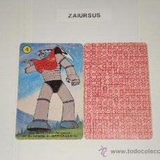 Barajas de cartas: MAZINGER Z / CARTA NAIPE HERACLIO FOURNIER Nº 4 PALO AMARILLO - ORIGINAL BARAJA AÑOS 70!!!!. Lote 29999345