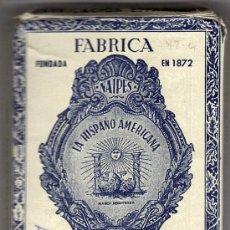 Barajas de cartas: BARAJA JUAN ROURA,- LA HISPANO AMERICANA 1.E.. Lote 30048121