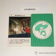 Barajas de cartas: DON QUIJOTE DE LA MANCHA / CARTA NAIPE HERACLIO FOURNIER Nº 1 - ORIGINAL DE ANTIGUA BARAJA AÑO 1979!. Lote 30050812