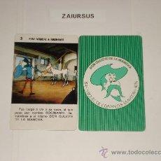 Barajas de cartas: DON QUIJOTE DE LA MANCHA / CARTA NAIPE HERACLIO FOURNIER Nº 3 - ORIGINAL DE ANTIGUA BARAJA AÑO 1979!. Lote 30050908