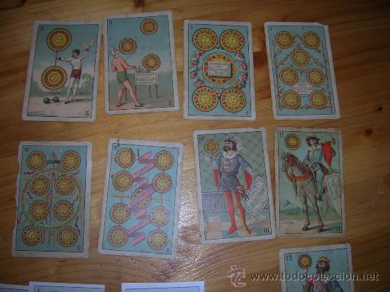 EXCEPCIONALMENTE BONITA Y RARA BARAJA CONOCIDA COMO DEL ALQUITRAN NORUEGO 1880 LEER DESCRIPCION (Juguetes y Juegos - Cartas y Naipes - Baraja Española)