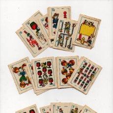 Barajas de cartas: BARAJA COMPLETA INFANTIL , AÑOS 20 , 6'5 X 4'5 CM, 50 CARTAS, COMPLETA !!!!! . Lote 30157659