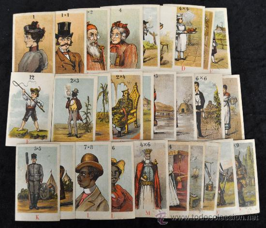 ANTIGUA BARAJA DE ABECEDARIO. 30 CARTAS. MUY RARA (Juguetes y Juegos - Cartas y Naipes - Otras Barajas)