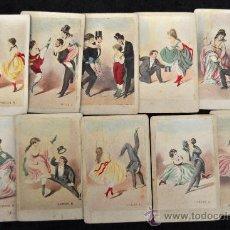 Barajas de cartas: COLECCION DE CARTAS DEL CAN CAN ORIGINALES DE ÉPOCA. Lote 30789047
