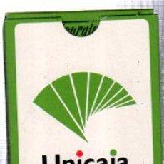 Barajas de cartas: BARAJA ESPAÑOLA DE NAIPES, CON PUBLICIDAD UNICAJA. Lote 30533496