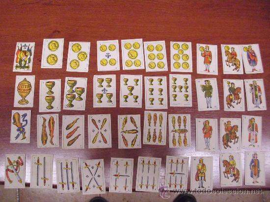 BARAJA ESPAÑOLA MUNIATURA. 40 CARTAS. BARCELONA 1964 (Juguetes y Juegos - Cartas y Naipes - Baraja Española)