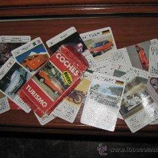 Baralhos de cartas: BARAJA DE CARTA INCOMPLETA DE COCHES TURISMOS DE FOURNIER - FALTA EL 50%. Lote 30672810