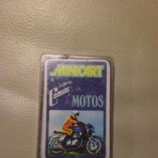 Barajas de cartas: MINI BARAJA DE CARTAS MOTOS. MINICART DE NAIPES COMAS. ORIGINAL AÑOS 70.. Lote 30837965