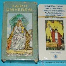 Barajas de cartas: BARAJA DE TAROT UNIVERSAL. LO SCARABEO. BONITOS NAIPES. . Lote 30956590