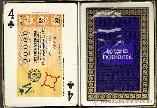 ESTUCHE 2 BARAJAS FOURNIER LOTERÍA NACIONAL (Juguetes y Juegos - Cartas y Naipes - Barajas de Póker)