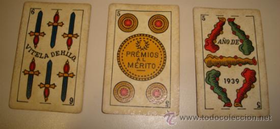 Barajas de cartas: BARAJA DE CARTAS LA LOBA DE JUAN ROURA. 1939. 40 CARTAS. - Foto 3 - 31006831