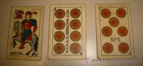 Barajas de cartas: BARAJA DE CARTAS LA LOBA DE JUAN ROURA. 1939. 40 CARTAS. - Foto 2 - 31006831