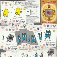 Barajas de cartas: RARA BARAJA DE CARTAS DE FOURNIER TAMAGOTCHI. Lote 31160311