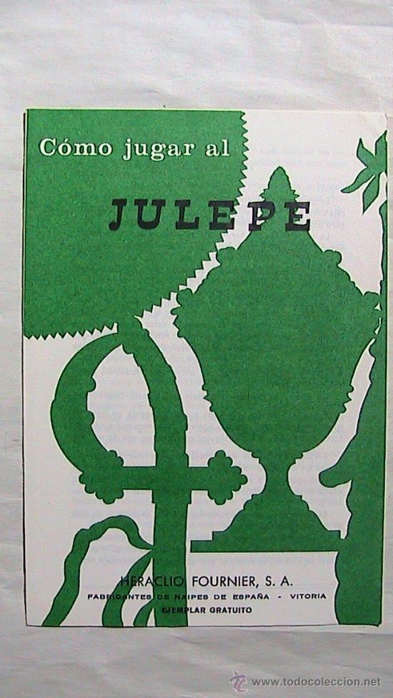 CURIOSAS INSTRUCCIONES FOURNIER COMO JUGAR AL JULEPE. 1969. (Juguetes y Juegos - Cartas y Naipes - Otras Barajas)